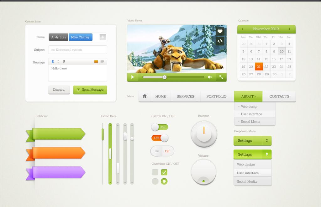 Элементы и формы для web дизайна
