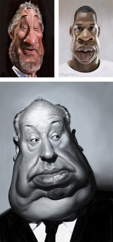 карикатуры знаменитостей