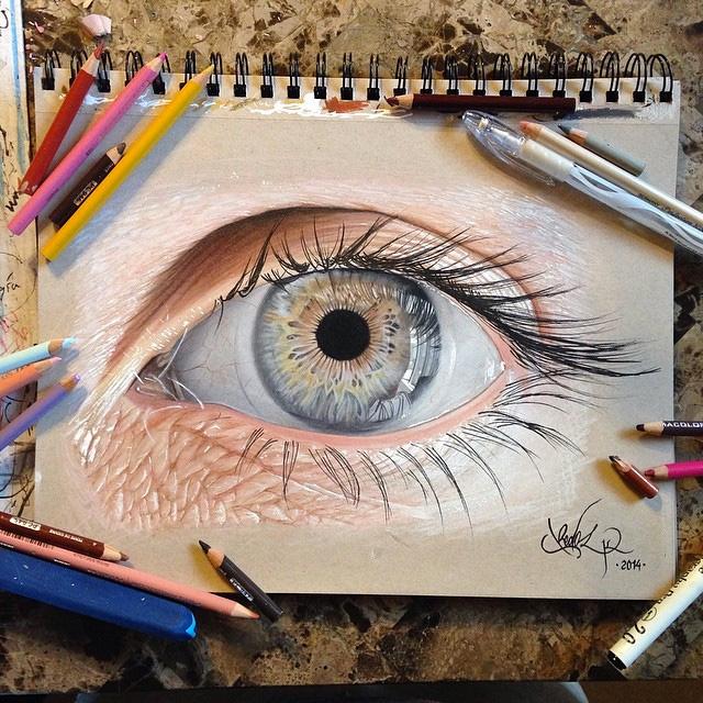 рисунки цветным карандашом