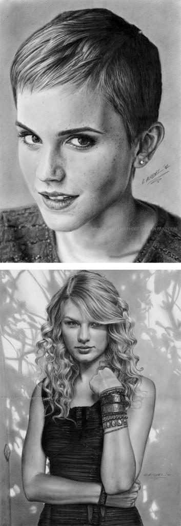 Реалистичные рисунки карандашом