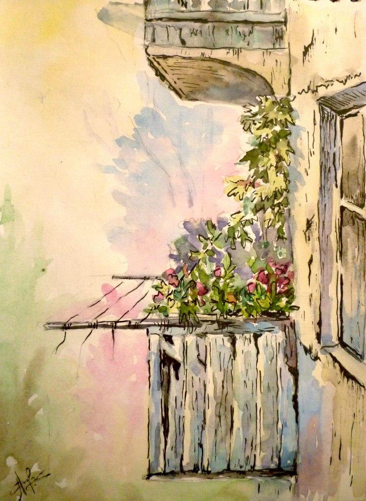 Соседский балкон