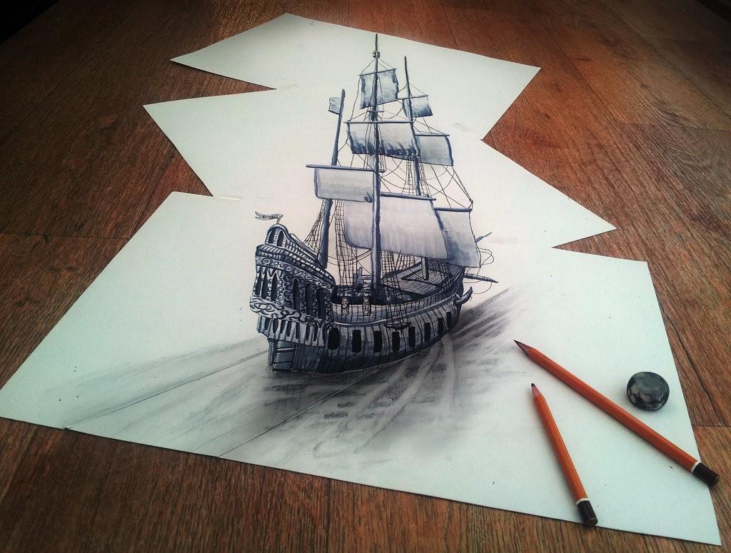 Удивительные 3D рисунки