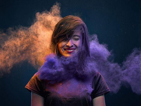 Цветные порошки интересные фото