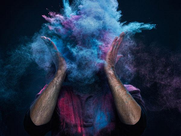Цветные порошки, или как создать интересные фото