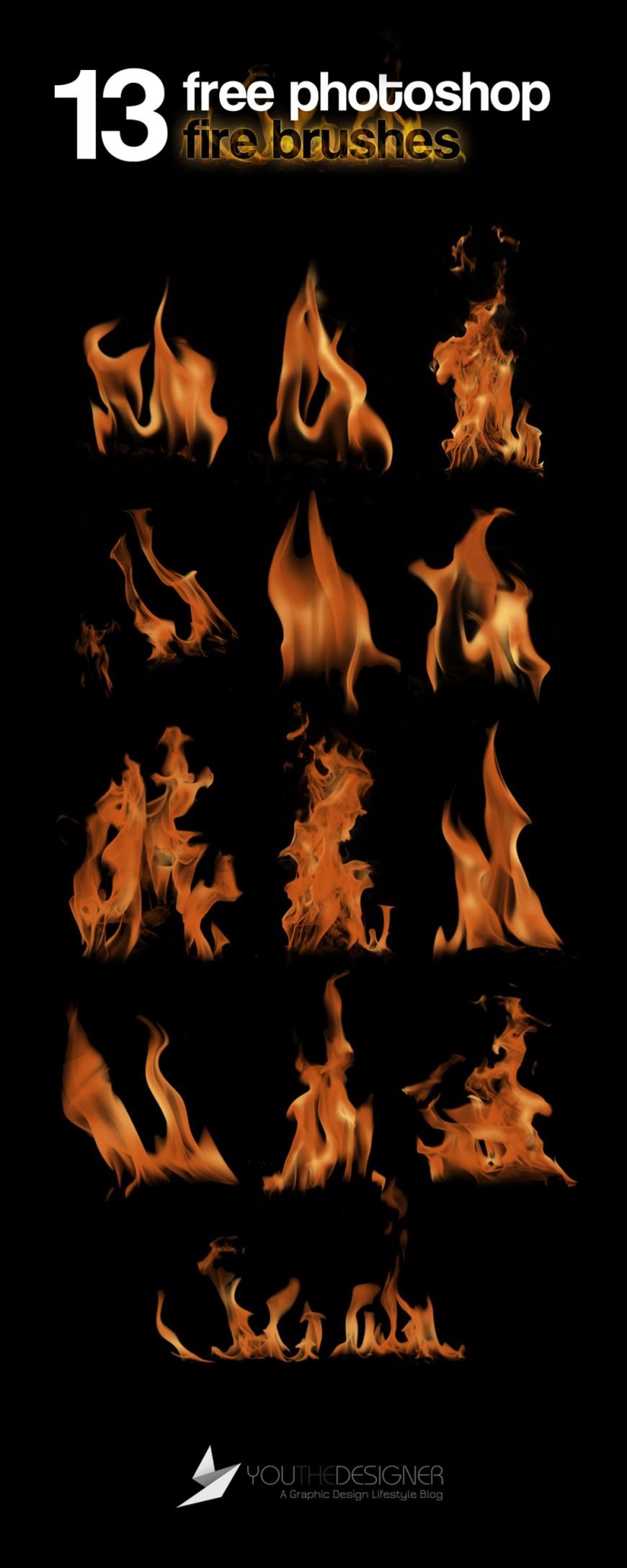 Photoshop кисти огня