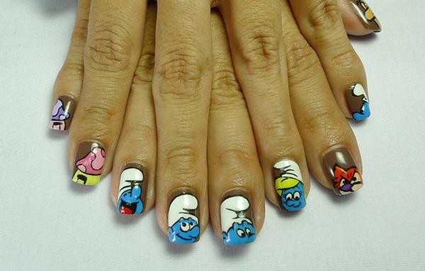 Дизайн ногтей мультяшки (15)