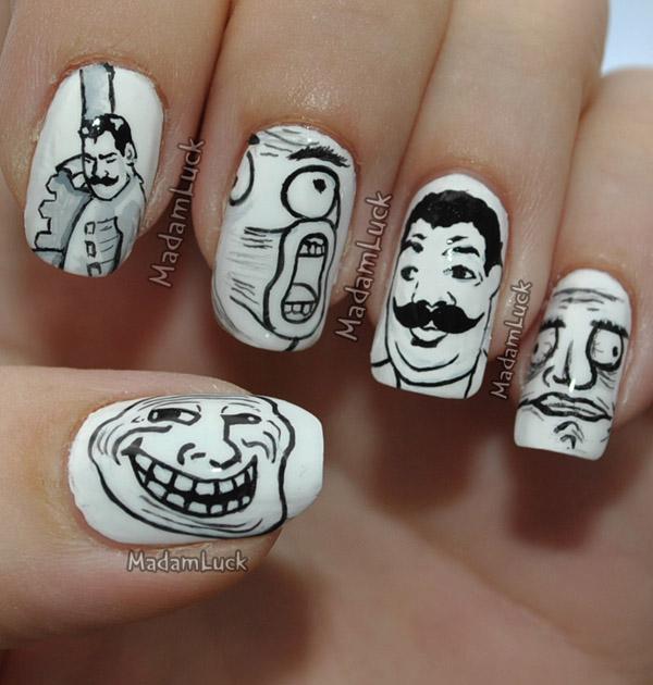 Дизайн ногтей мультяшки (4)