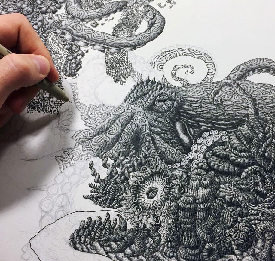 Рисунки карандашом животных (2)
