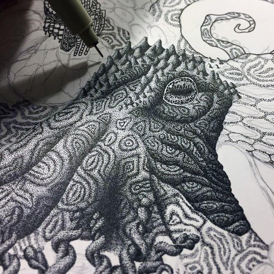Рисунки карандашом животных (3)