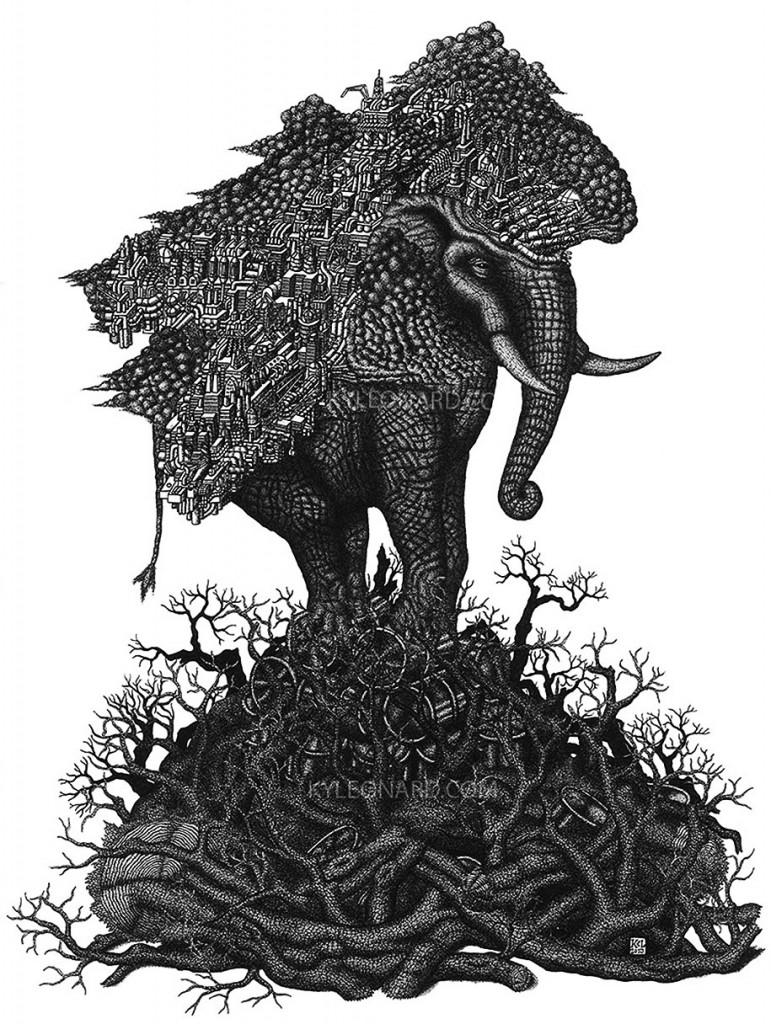 Рисунки карандашом животных (7)