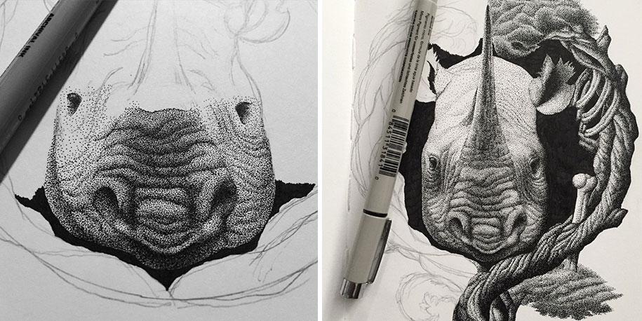 Рисунки карандашом животных (8)