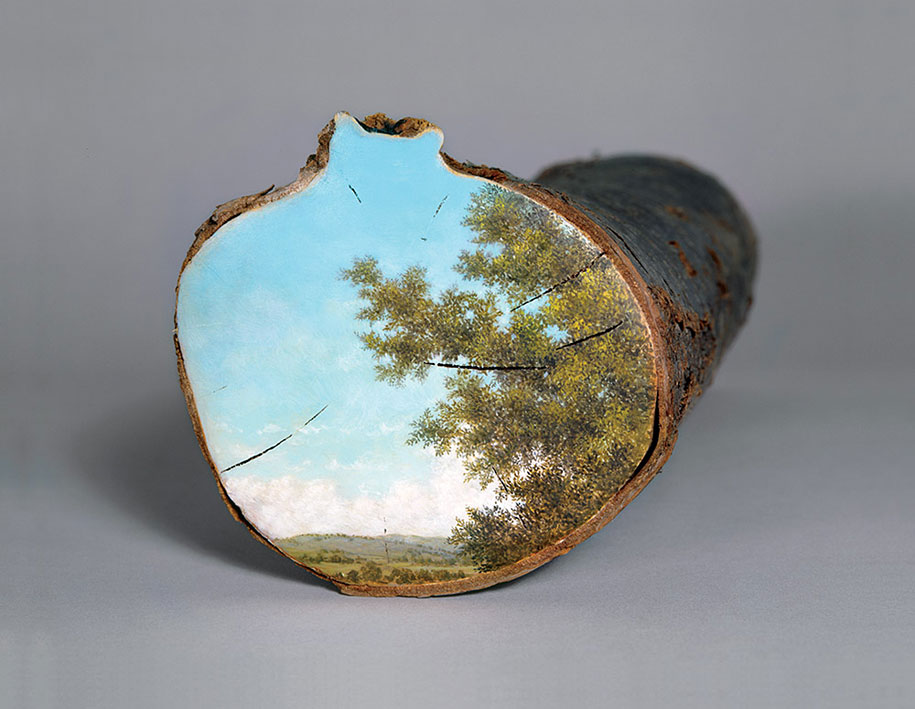 Рисунки на спиле дерева