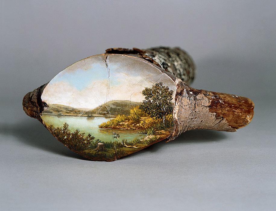 Рисунки на спиле дерева (2)
