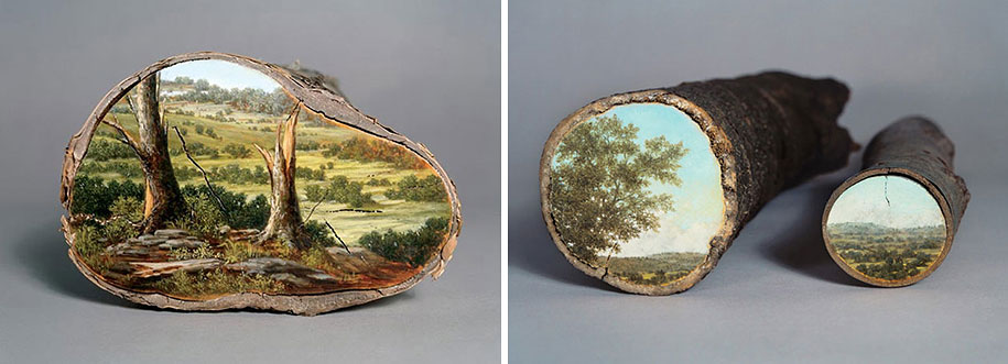 Рисунки на спиле дерева (6)
